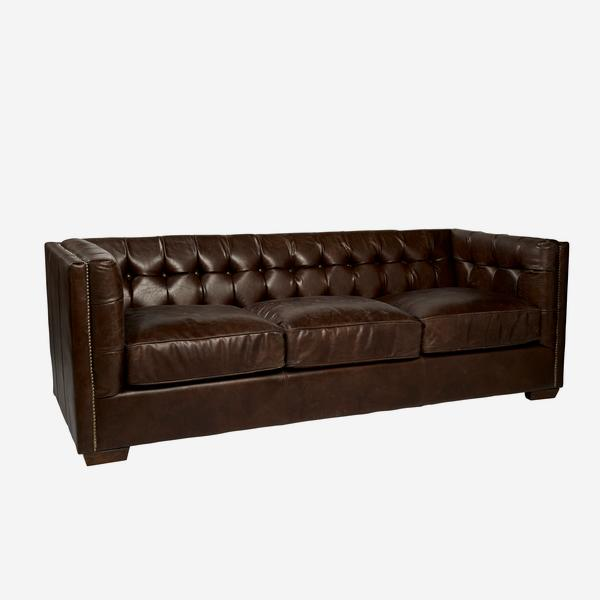 Armstrong sofa in brown leather