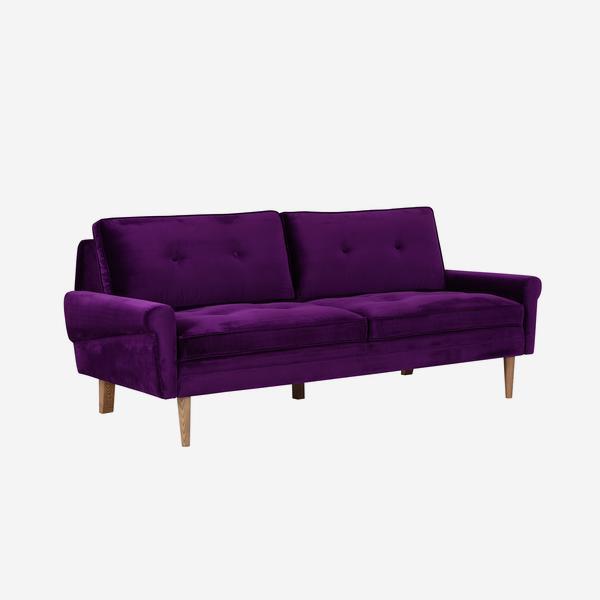 Firecracker sofa in deep purple