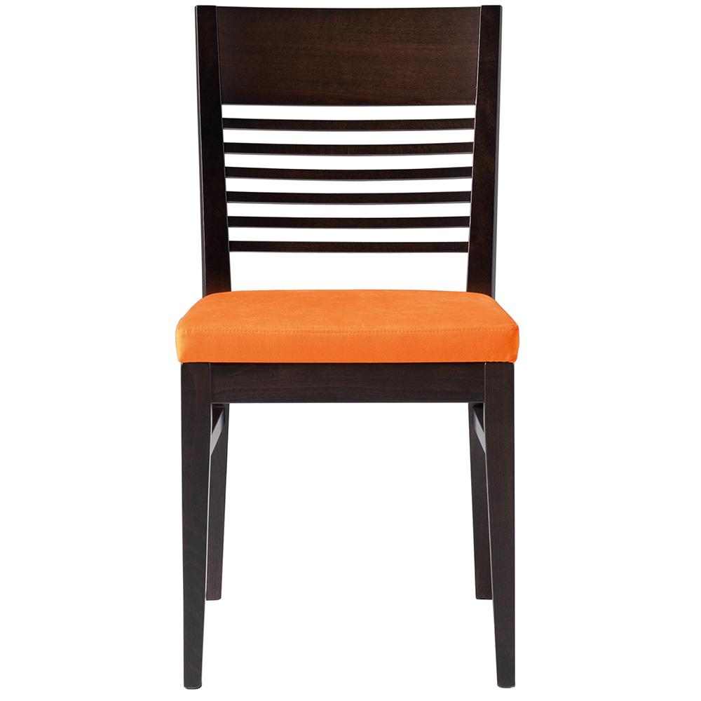 Black and orange bar chair