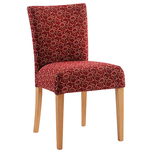 Patterned red side chair
