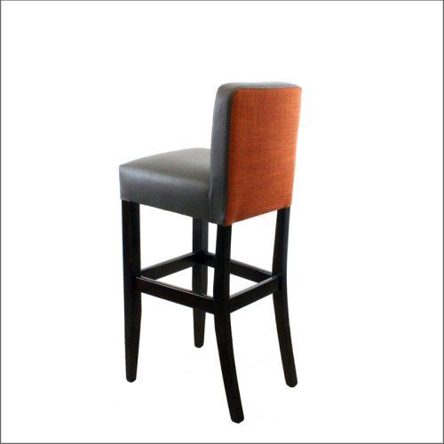 Leather bar stool