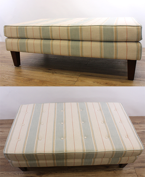 Bespoke decorative footstool
