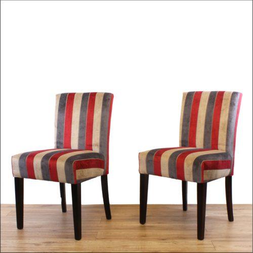 Striped bar chairs
