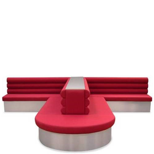 Red banquette seating