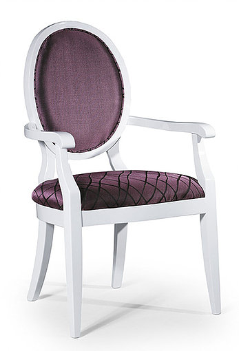 Purple and white dining chair