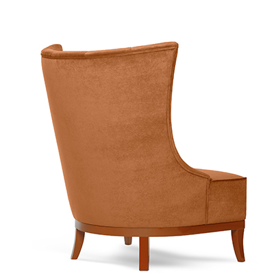 Chloe lounge chair rear view
