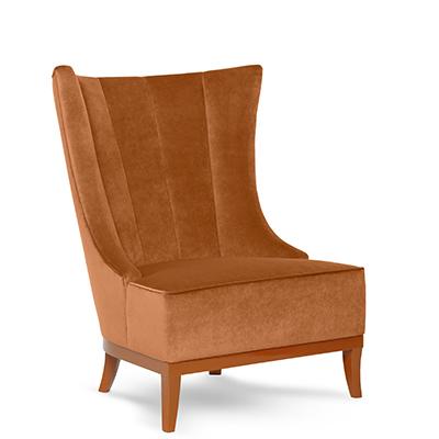 Chloe lounge chair side view