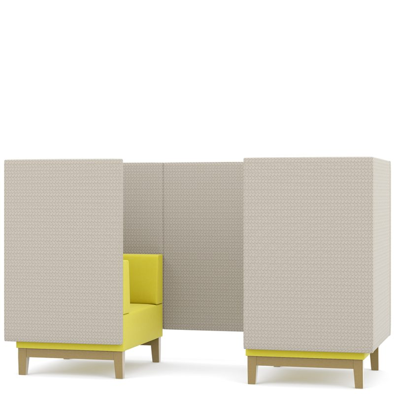 Fence booth seating