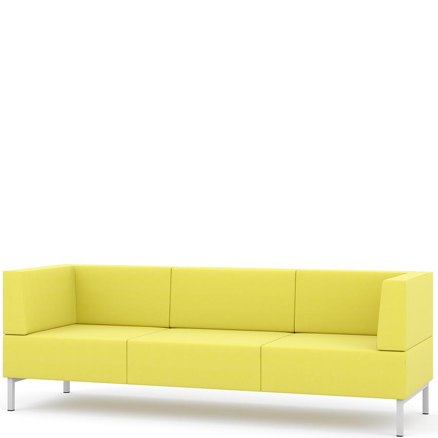 Yellow three seater sofa