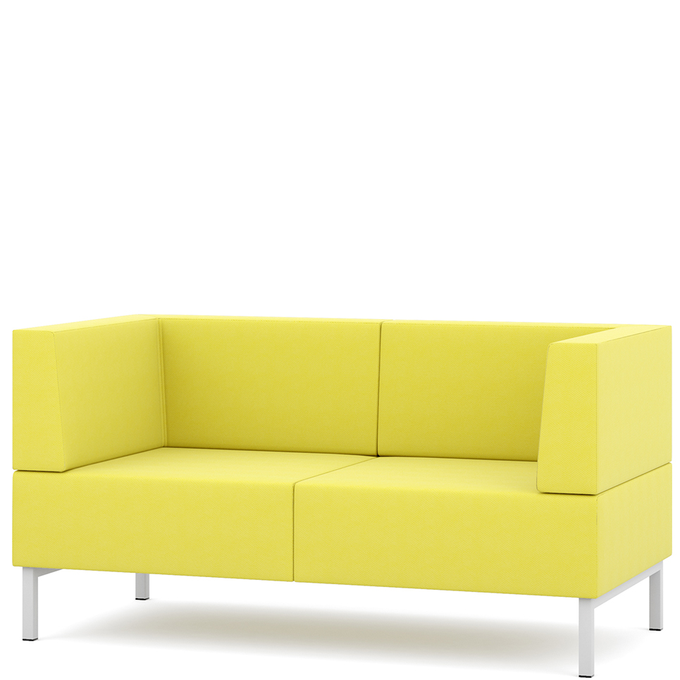 Yellow two seater sofa