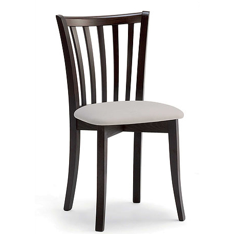 Black and white dining chair