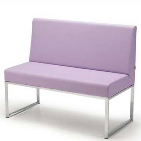 Lilac banquette seating