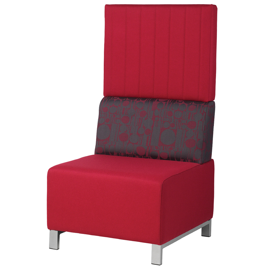 Red booth seating