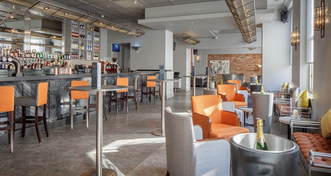 Hotel bar reupholstery by HSI Furniture
