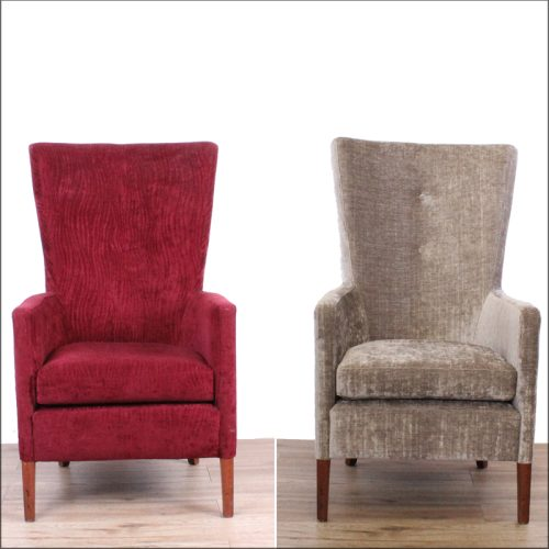 Hotel chair reupholstery - before and after