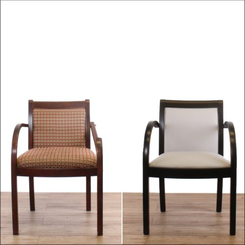 Examples of dining chair reupholstery