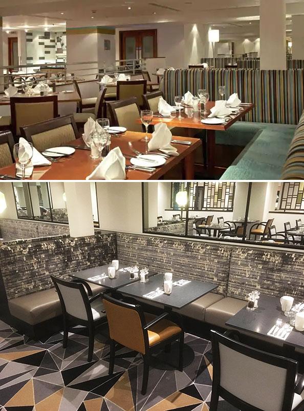 London hotel dining room refurbishment
