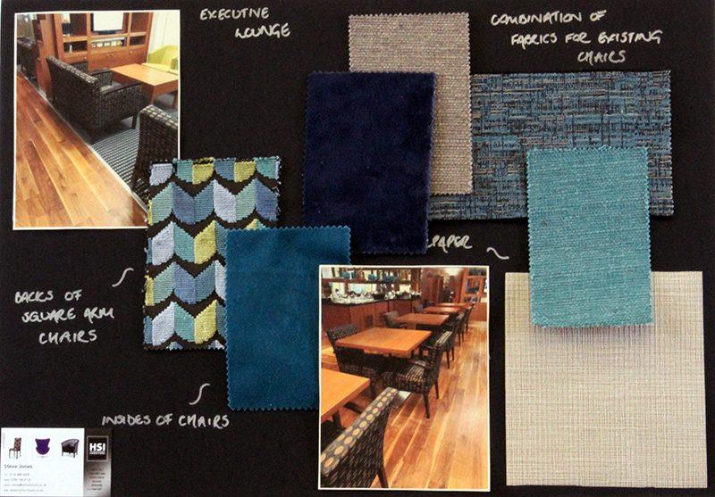 hotel interior design mood board - upholstery fabrics