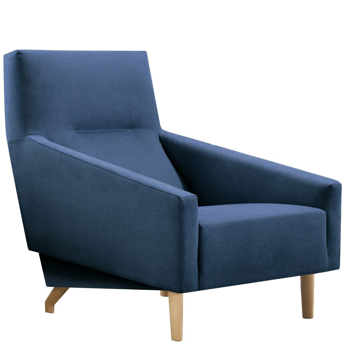 Blue hotel lounge chair