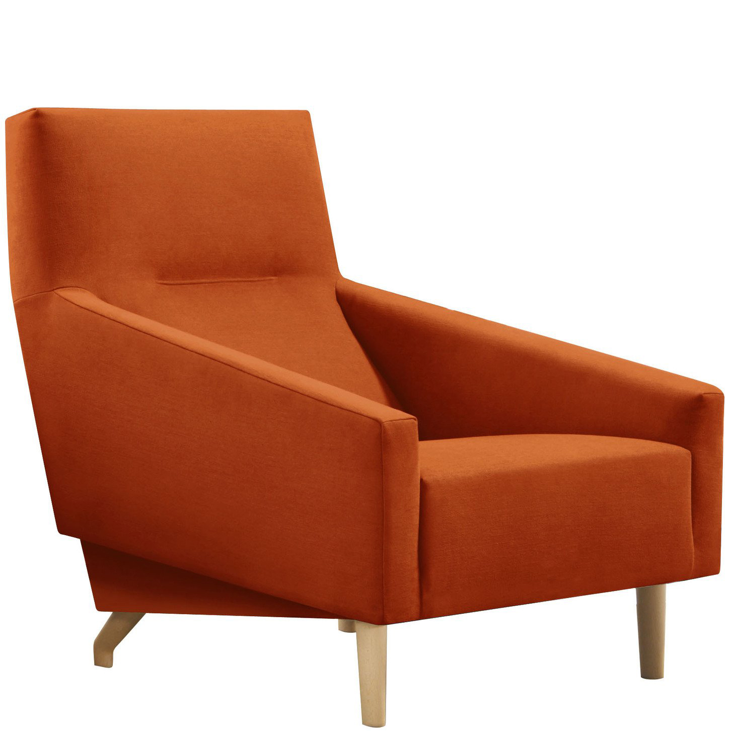 Orange hotel lounge chair