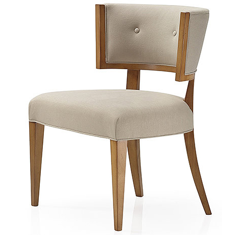 Cream chair with wooden legs