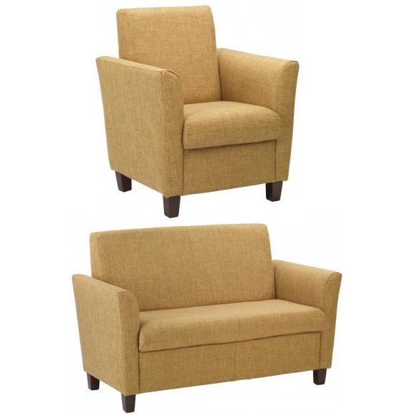 Yellow armchair and sofa