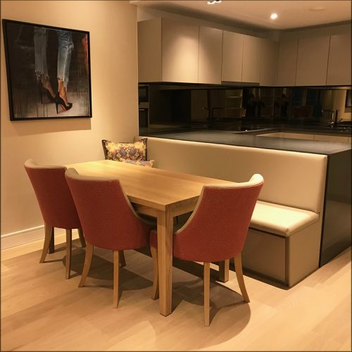 Custom made kitchen/diner seating