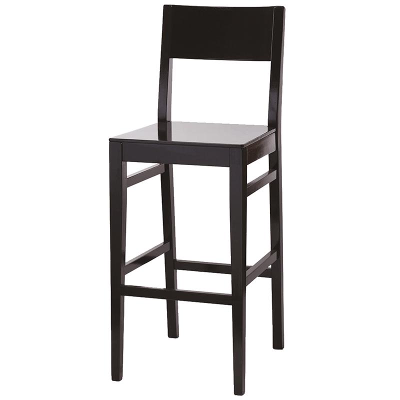 Dark wooden bar chair