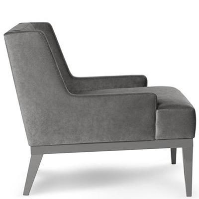 Grey hotel lounge chair