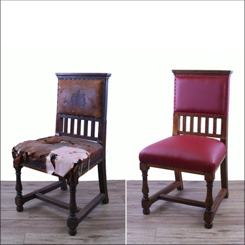 Renovated antique chair - before and after