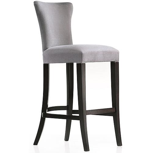 Grey high-backed bar stool