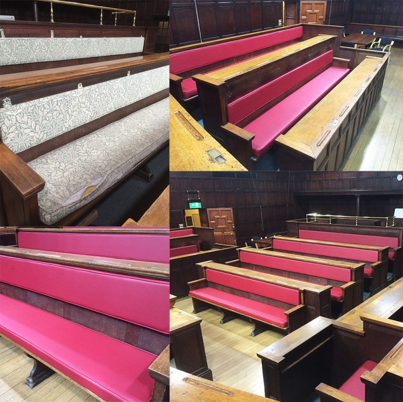 Bespoke seating manufacture for courts & council chambers