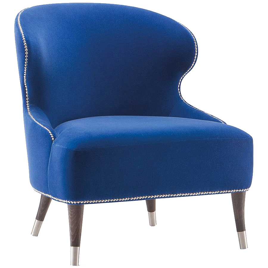 Hotel lounge chair in blue