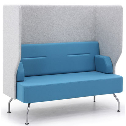 Two seater booth Brix-Up with cushions